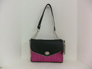 Femme-Fatale-Lady-Luck-Bag-Magenta-Pink-Sparkle-Black-Pinup-Rockabilly-Hotrod