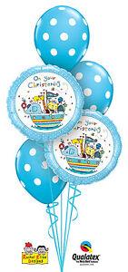 CHRISTENING-PARTY-SUPPLIES-BALLOONS-5-X-QUALATEX-BALLOON-BOY-CHRISTENING-BOUQUET
