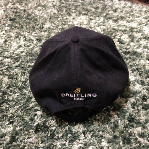 BREITLING Cap Hat Novelty New Unused Not for sale Black Gold logo Embroidered