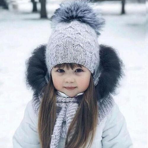 Girl/&Boy Toddler Kids Baby Infant Winter Warm Chunky Crochet Knit Hat Beanie Cap