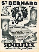PUBLICITE ADVERTISING 094  1953  ST BERNARD SEMELFLEX bottes  pantoufles baskets