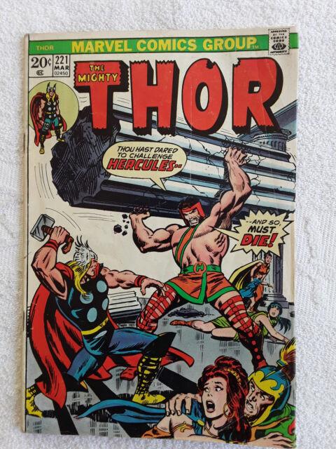 Thor #221 (Mar 1974, Marvel) Vol #1 Marvel Value Stamp VG+