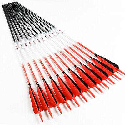 Spine300-600 ID6.2mm Bogenschießen Pfeile Schäfte Carbon Arrows Bogen 12PCS