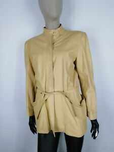 CAPPOTTO-VINTAGE-VERA-PELLE-MADE-IN-ITALY-Giubbotto-Giacca-Tg-44-Donna