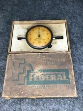 Vintage Federal Dial Indicator Model D21 0001 Full Jeweled With Original Box Usa