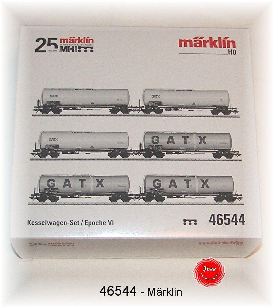 46544 Vagone Cisterna-Set Der Gatx Rail Germanygmbh 6 Pezzi   Nuovo in