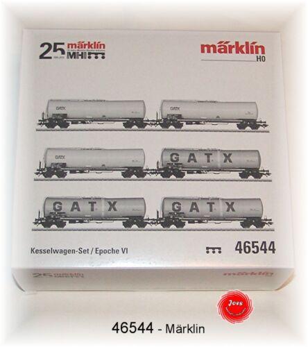 Märklin 46544 Caldaia Carrello-Set della GATX Rail germanygmbh 6 pezzi #neu in OVP #
