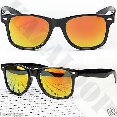 New Mirror Reflective Lens Wayfarer sunglasses mens womens