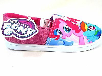 Girls My Little Pony Pink Bologna Slip On Pumps Shoes Trainers Uk Size 6-12