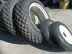 TWO-12-4x28-6-ply-R3-amp-TWO-600x16-FORD-JUBILEE-2n-8n-Farm-Tractor-Tires-w-Wheels