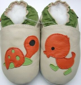 Minishoezoo-Tartaruga-Duck-Beige-4-5-Anni-Suola-Morbida-Bambino-Scarpe-IN-Pelle