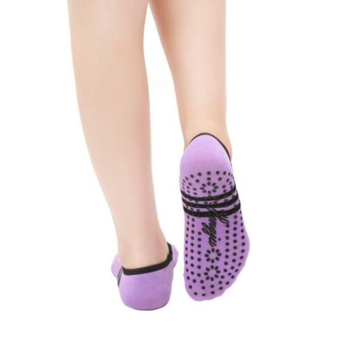 Yoga Socks Sports Gym Non Slip Ballet Exercise Grip Cotton For Women SJ
