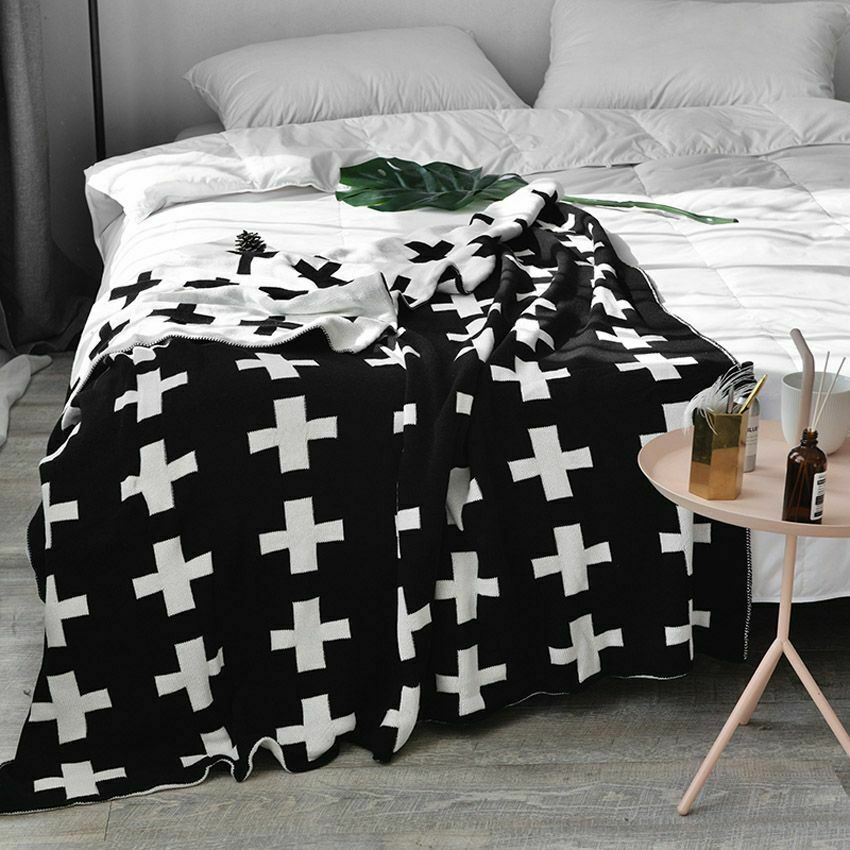 Bedding Soft Blanket Modern Style Comfortable Sofa Cover Portable Throw Blankets