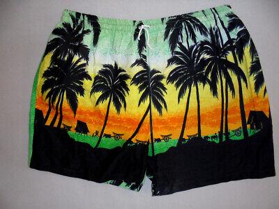 Vintage 80`s Hawaii Shorts Beach Pants Oldschool Festival Outfit 80er Surf M-mostra Il Titolo Originale Morbido E Antislipore