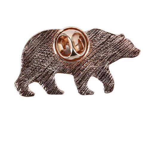 Cute Bear Shape Alloy Metal Brooch Pin Badges Students Clothes Shirt Decoration