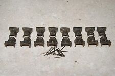8 SETS 1/2 INCH COLUMN HOLDERS MANTEL/ SHELF CLOCK PARTS USED