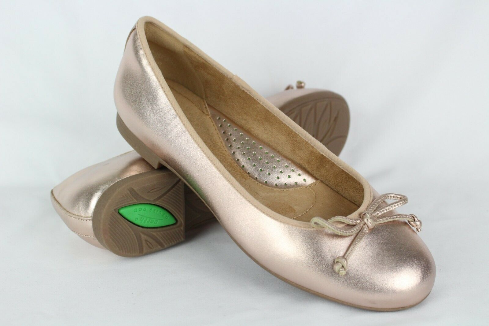 New Earth shoes Women's Allegro Ballet Flats Size 7m pink gold
