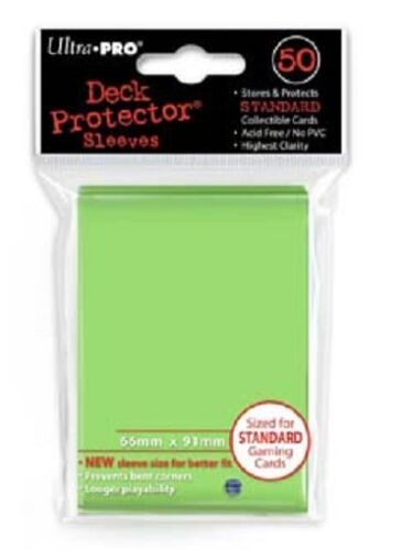 10x PACKS Magic, Pokemon, Standard UltraPro LIME GREEN Card Sleeves 50ct NEW!