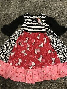 momi-boutique-Size-6-Little-Girl-Snoopy-Dress-brand-New-With-Tags