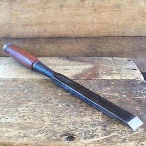 Vintage-SHARP-WARD-19mm-Antique-Socketed-Framing-CHISEL-Eucalyptus-Handle-652