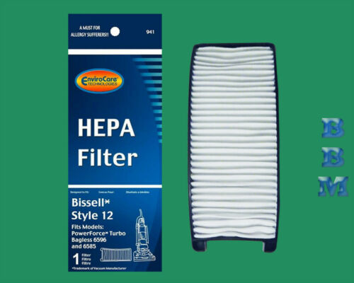 1 Style 12 #203-8037 HEPA Filter Bissell PowerForce Turbo Bagless Vacuum Cleaner