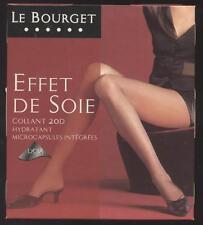 NEUF LE BOURGET EFFET DE SOIE COLLANT 20D NOIR TAILLE 3 HYDRATANT