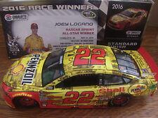 Joey Logano 2016 SHELL Pennzoil Charlotte All Star WIN RACED 1/24 NASCAR