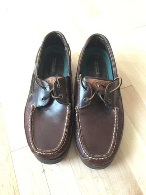 Sperry Top-Sider Mako Mens Size 12 W Brown Leather 2 Eye Deck Boat Shoes 0764072