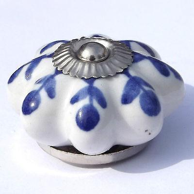 Ceramic Chrome Knobs Handles Pulls door drawer cupboard wardrobe porcelain china