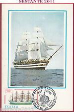 ITALIA MAXIMUM MAXI CARD ROMA 386 COSTRUZIONI NAVALI VESPUCCI 1990 GENOVA C239