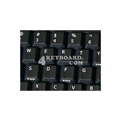 ENGLISH US NETBOOK KEYBOARD STICKER WHITE