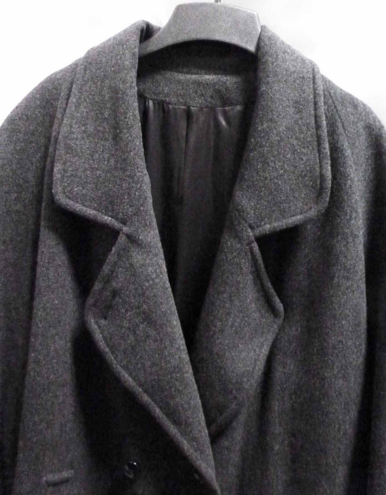Vintage Gray Wool Top Coat Warm Heavyweight Overc… - image 4