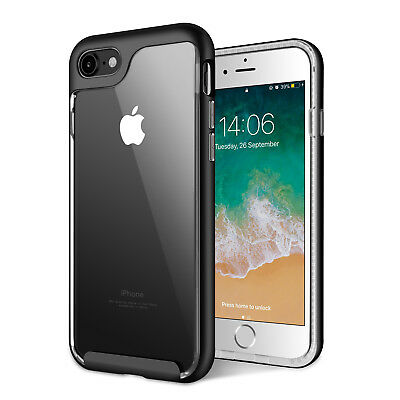 For iPhone 6s 7 8 Plus Rubber Case Hybrid Clear Soft Shockproof Phone Back Cover