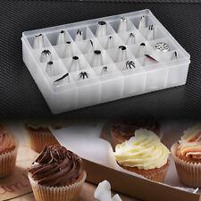 24pcs Piping Icing Nozzles Pastry Tips Fondant Cake Sugarcraft Decorating Tools