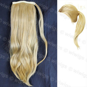 Wiwigs-Golden-Blonde-1-Piece-Straight-Clip-In-Ladies-Ponytail-Wrap-Hair-Extensio