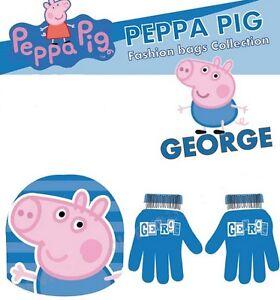 Caricamento dell immagine in corso SET-CAPPELLO-GUANTI-PEPPA-PIG-GEORGE 0570d5c8e3e9