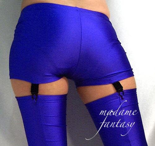 Hot Pants Short bretelles bleu royal noir XS-XXXL