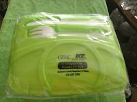 Bg&e Advertising Plastic Lunch Box Food Container With Fork And Knife