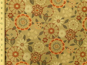Momentum Trove Carex Mid Century Modern Retro Orange And Tan Upholstery Fabric Ebay,What Colors Go With Light Mint Green