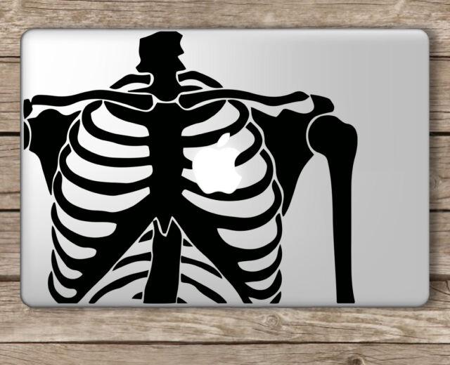 Skeleton with Apple Heart - Apple Macbook Laptop Vinyl Sticker Decal