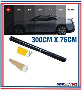 3m 76cm film teint solaire noir pour vitre fen tre velux voiture batiment 5 ebay. Black Bedroom Furniture Sets. Home Design Ideas