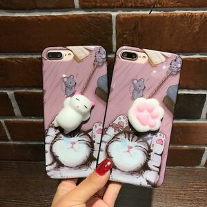 080cfbd7b77302 Squishy 3D Cute Cat's Paw Soft Silicone Back Case Cover For iPhone 6 ...
