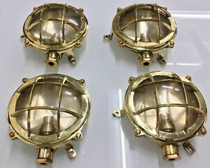 vintage-style-new-marine-brass-ship-nautical-turtle-style-passage-light-4-piece