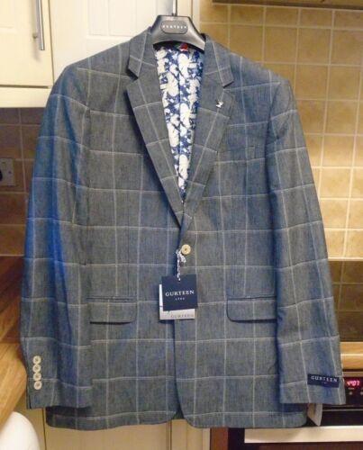 Check 44r Gurteen 95 £ Cotone Ashwater Blue New Lino Giacca Rrp 139 qUSTXxwnz0