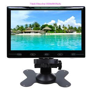 Ultra-Thin-7-034-HD-1024-600-TFT-LCD-2-Video-Input-DVD-VCR-Car-Rear-View-Monitor