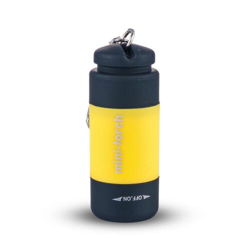 Rechargeable USB LED Light Flashlight Lamp Pocket Keychain Mini Torch Waterproof