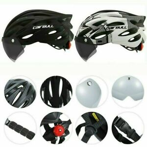 Adult Cycling Helmet Mountain Road Bike Bicycle Helmet w/ Visor Brim Taillight