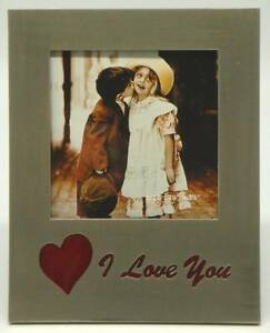 3-x-3-039-I-Love-You-039-Red-Inlay-on-Plain-Frame-Item-991