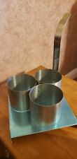 4 Stainless Steel Funnel Cake Mold Ring Silver Long Handle