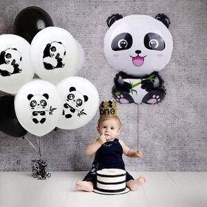 gateau-fete-d-039-anniversaire-panda-theme-bandes-de-ballons-jouets-gonflables